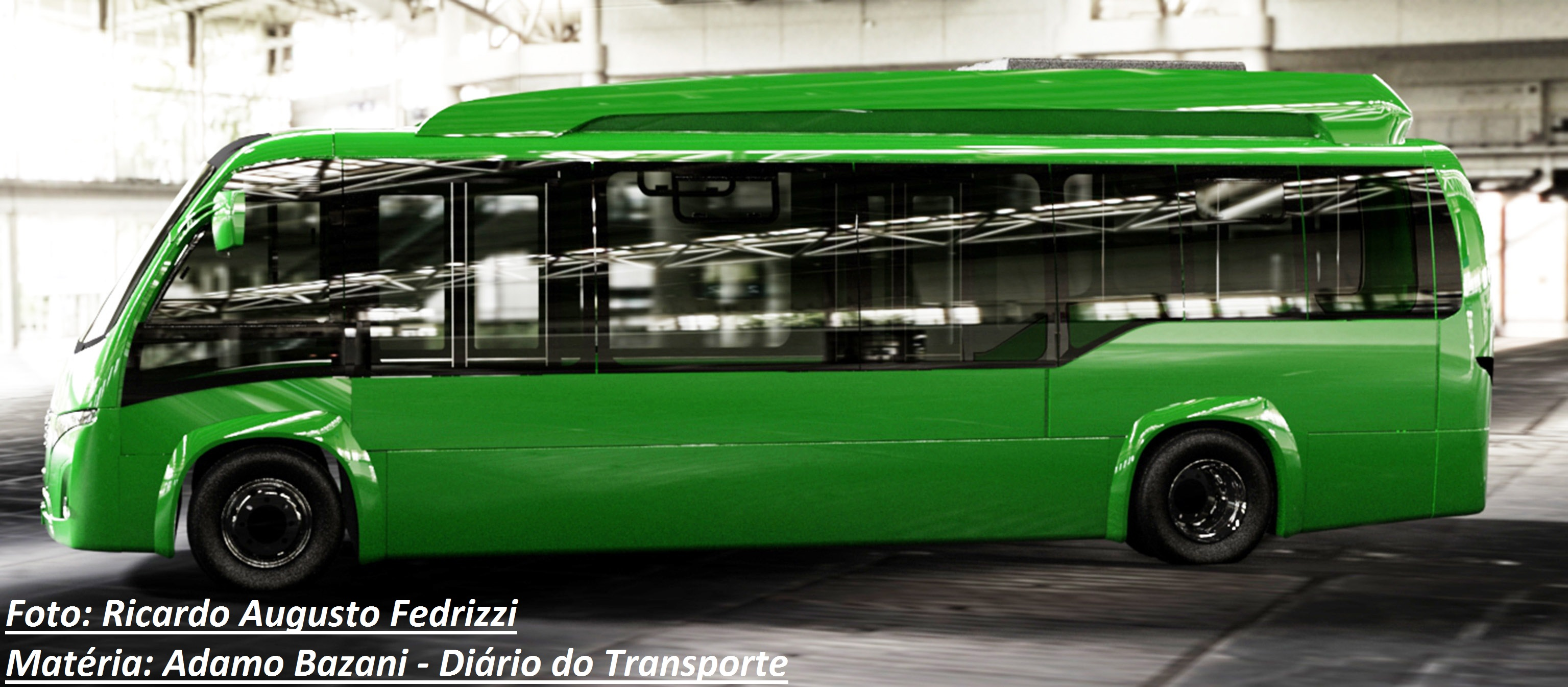 Modelo 100% elétrico pode ser usado em sistemas urbanos de menor capacidade, alimentadores de BRTs e Metrô, aeroportos, transfers e transporte escolar