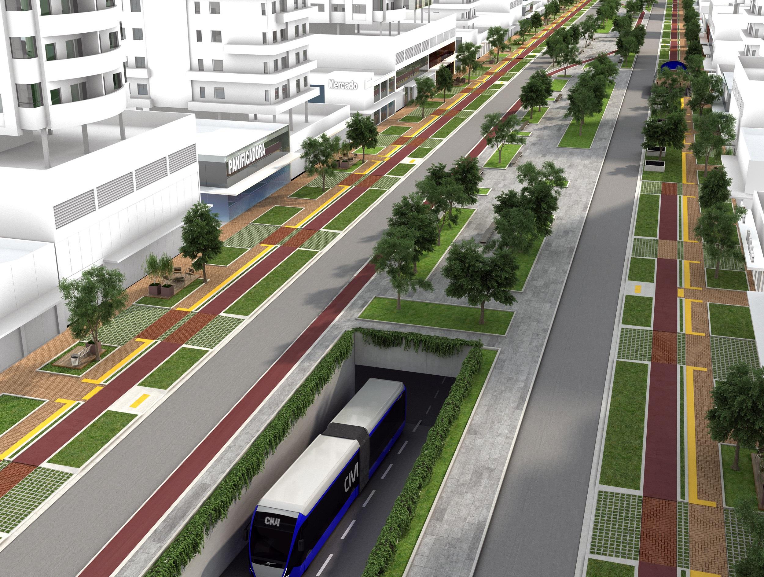 Sobre túneis e estações, uma alternativa é construir áreas de pedestres e jardins