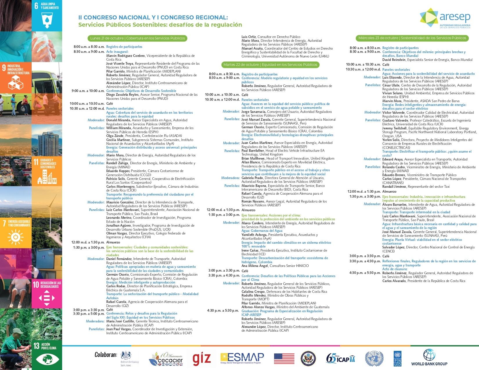Agenda del Congreso ARESEP (16-10-2019)