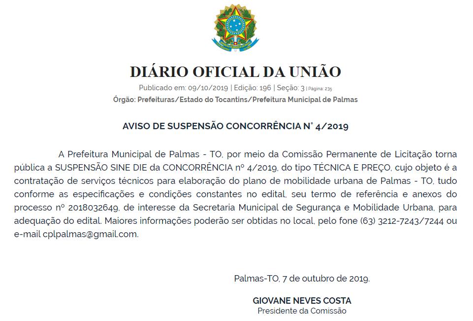 Palmas_PMU_edital suspendo