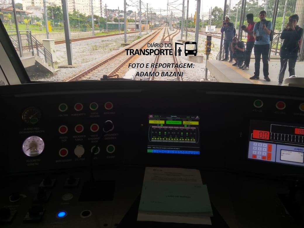 cabina trem chegando