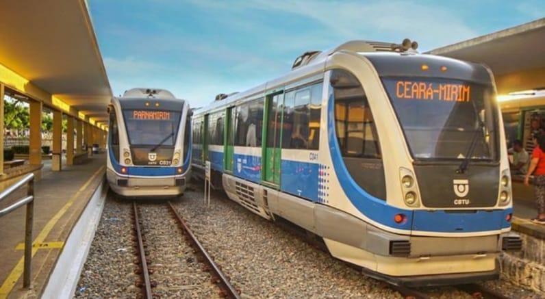 Trens de Natal (RN) têm trecho interrompido nesta segunda-feira (18)