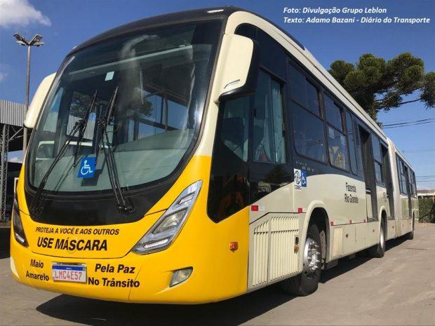 """Curitiba terá 60 ônibus """"mascarados"""" para conscientização sobre a prevenção na Covid-19"""