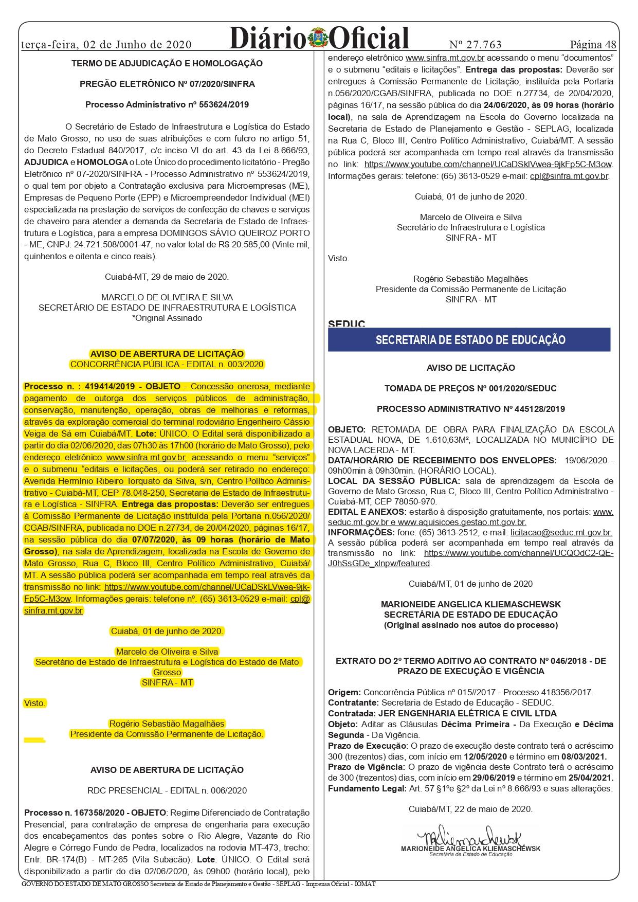 AVISO DE LICITAÇÃO - DOE_page-0001
